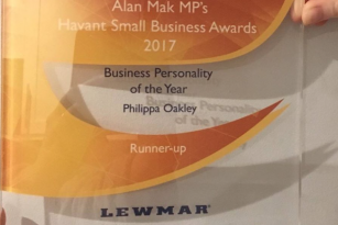 Philippa wins small business awards chiropractor near me Emsworth Havant Chichester